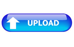 Upload Button. Blue upload button for internet website use Stock Photography