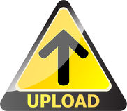 Upload button Royalty Free Stock Images