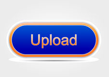 Upload button colored orange and blue (elipse) Royalty Free Stock Photo