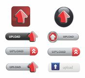 Upload Button Set Royalty Free Stock Image