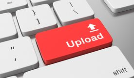 Upload button. Upload text on keyboard button Royalty Free Stock Images