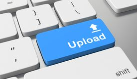 Upload button. Upload text on keyboard button Royalty Free Stock Photography
