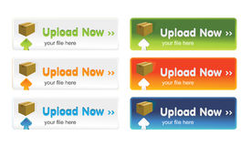 Upload buttons Royalty Free Stock Images