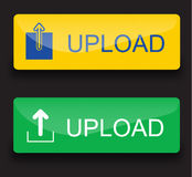 Upload buttons Stock Photography