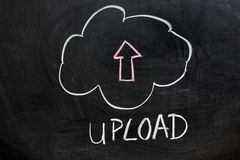 Upload chmury usługa ilustracja wektor