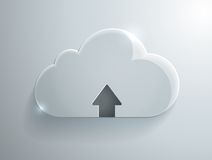 Upload cloud glass icon. Vector Illustration Royalty Free Stock Photos