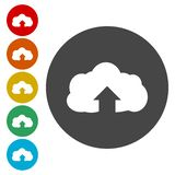 Upload from cloud icon. Upload button. Load symbol. Vector icon vector illustration