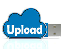 Upload Cloud Pen drive Means Website Uploading Royalty Free Stock Photography
