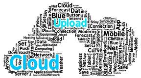 Upload cloud shaped as a real cloud with an arrow as a symbol of Royalty Free Stock Photo