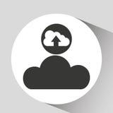 Upload cloud sound graphic Stock Photos