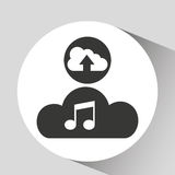 Upload cloud sound music Royalty Free Stock Photography