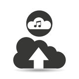 Upload cloud sound music Stock Photos