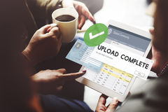 Upload Complete Data Uploading Submit Technology Concept Royalty Free Stock Photo