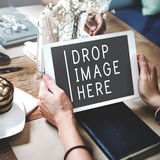 Upload Connecting Share Upload Social Communication Concept.  Royalty Free Stock Photography