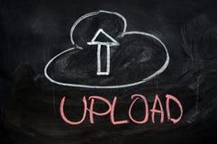 Upload della nube fotografia stock