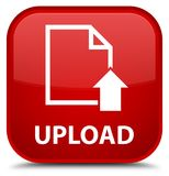 Upload (document icon) special red square button royalty free illustration