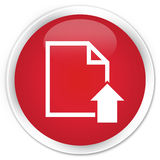 Upload document icon premium red round button Royalty Free Stock Images