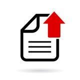 Upload document vector icon Stock Photos