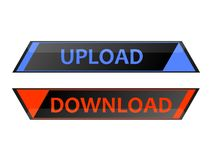 Upload Download. Interesting upload and download buttons Stock Photography