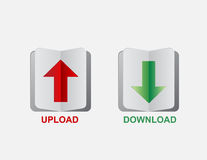 Upload download button Royalty Free Stock Photo