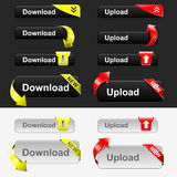 Upload and Download Button Set Royalty Free Stock Photos
