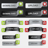 Upload and Download Button Set Royalty Free Stock Photography
