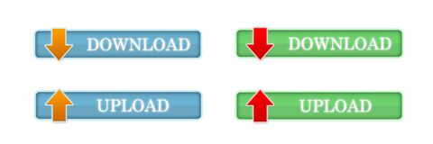 Upload and  download button set Royalty Free Stock Images