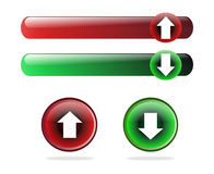 Upload and download buttons Royalty Free Stock Photography
