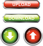 Upload / Download Buttons Stock Image