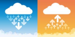 Upload Download Cloud Storage Stock Photos