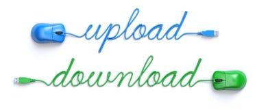 Upload - download concept Stock Image