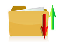 Upload and download folder Royalty Free Stock Photo