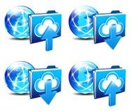 Upload Download folder communication Internet  Stock Photography