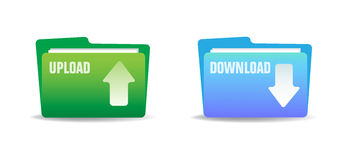 Upload and download folders Royalty Free Stock Images