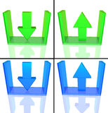 Upload and download icon Stock Images