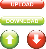 Upload / Download Icons Stock Image