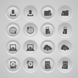 Upload Download Icons Set. Upload download symbols collection user interface computer mobile icons set flat isolated vector illustration Stock Photography