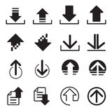 Upload DownLoad icons set Royalty Free Stock Images