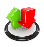 Upload and download symbol Stock Photography