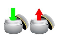 Upload en download pijlen Royalty-vrije Stock Afbeeldingen