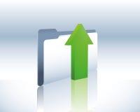 Upload folder. Illustration of a data upload folder Royalty Free Stock Image