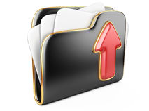 Upload folder 3d icon. Royalty Free Stock Photo
