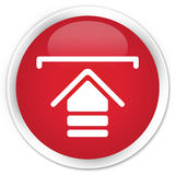 Upload icon premium red round button Royalty Free Stock Image