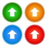 Upload ikon guzików sieci Å›ciÄ…ganie zdjęcie stock