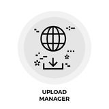 Upload Manager Line Icon. Upload Manager icon vector. Flat icon isolated on the white background. Editable EPS file. Vector illustration Stock Photos