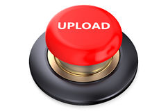 Upload Red Button. Isolated on white background Royalty Free Stock Photo