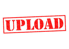 UPLOAD. Red Rubber Stamp over a white background Royalty Free Stock Image