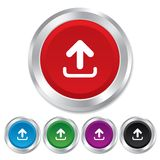 Upload sign icon. Upload button. Stock Images