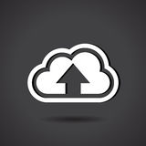 Upload to Cloud. This image represents a cloud upload illustration./Upload to Cloud Royalty Free Stock Photo
