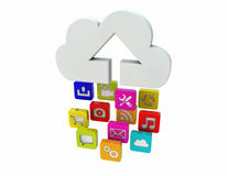 Upload to the cloud Stock Photography
